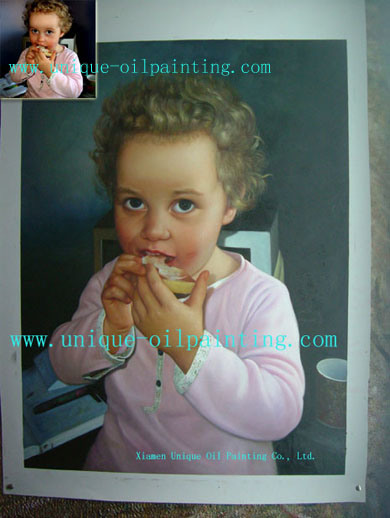 Olieverfschilderij, het Olieverfschilderij van het Portret, het Olieverfschilderij van Kinderen