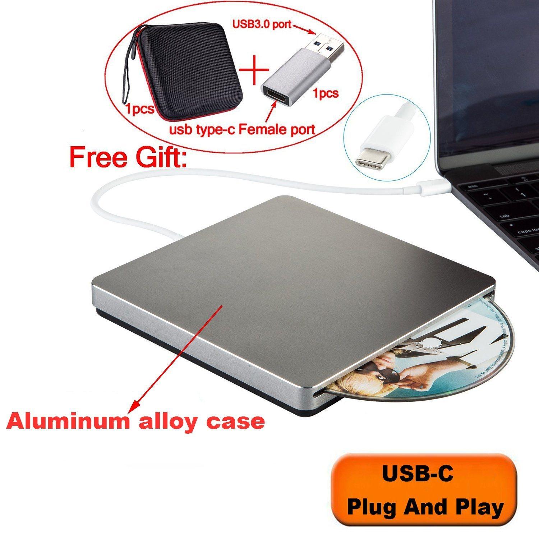 Enregistreur de lecteur de DVD USB pour ordinateur Apple (gris)