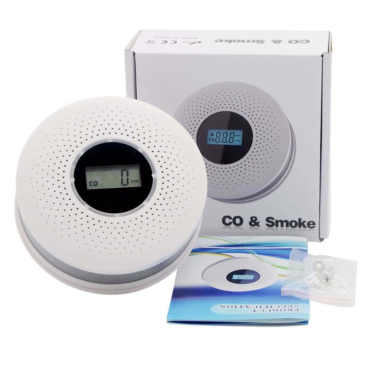 2 в 1 СВЕТОДИОДНЫЙ ИНДИКАТОР цифровой голосовой предупреждение угарный газ CO детектор утечки датчика охранной сигнализации