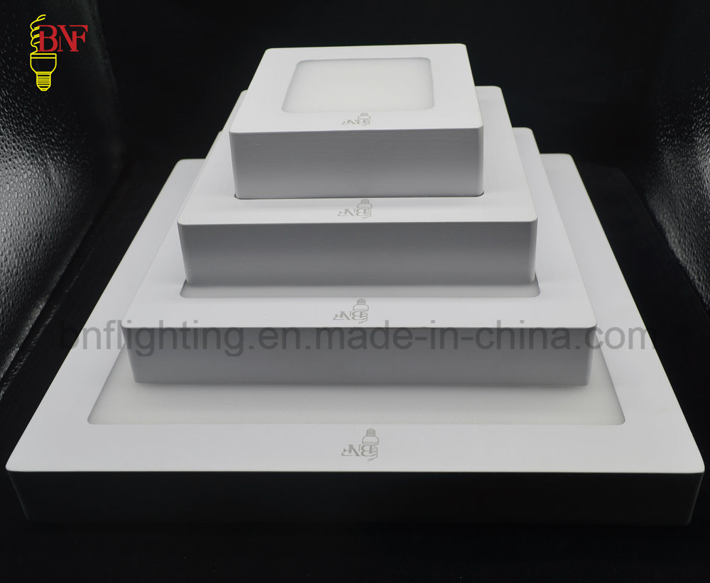 SMD 6W 12W 18W runde und quadratische LED-Decken-Rahmen-Instrumententafel-Leuchte mit LED täfelt Innen