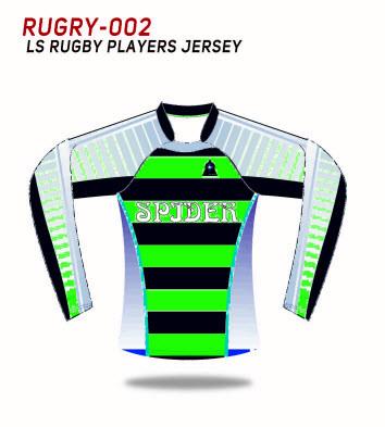 Rugby su ordinazione Teamwears di sublimazione dei manicotti lunghi di Spidersports
