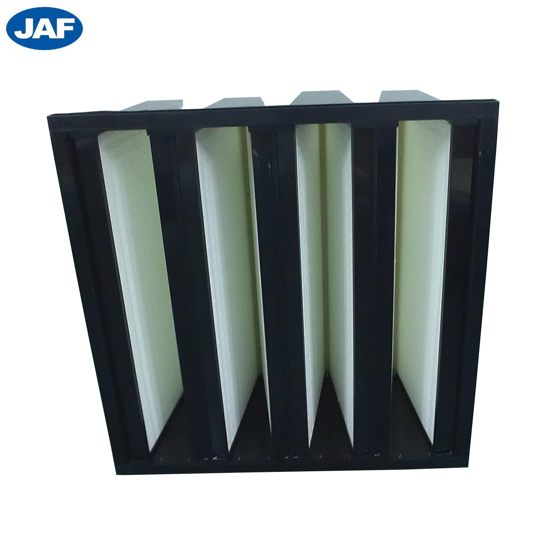 中国工場価格 V バンクプラスチックフレームコンパクトエアフィルタ