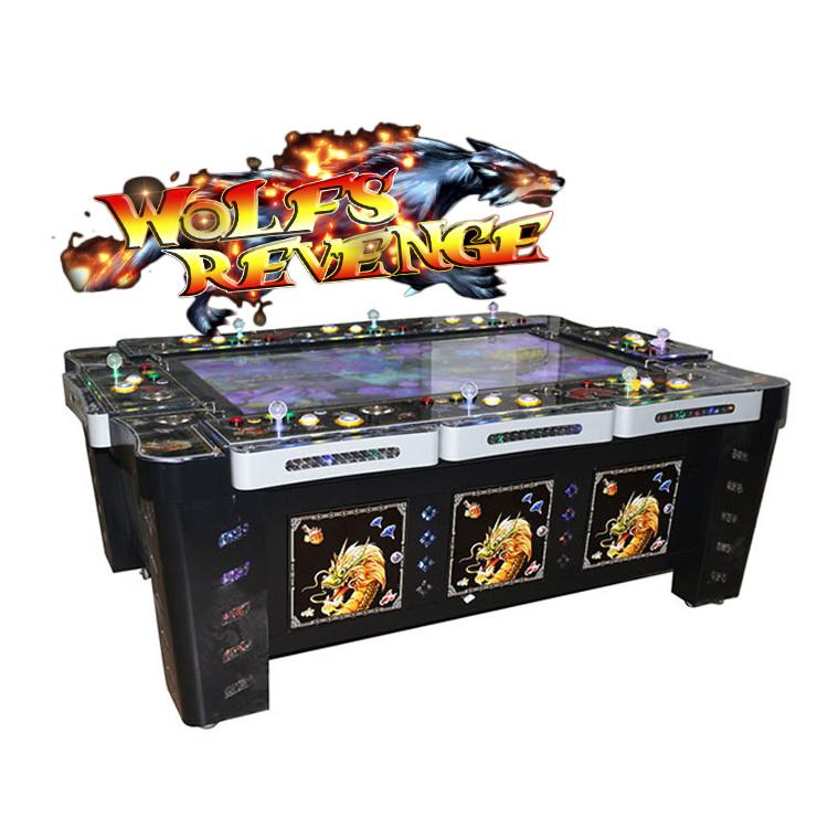 Wolf la venganza de la ranura de la tabla de pesca hábiles juegos de azar máquinas de juegos de EE.UU altas ganancias 8 Jugadores