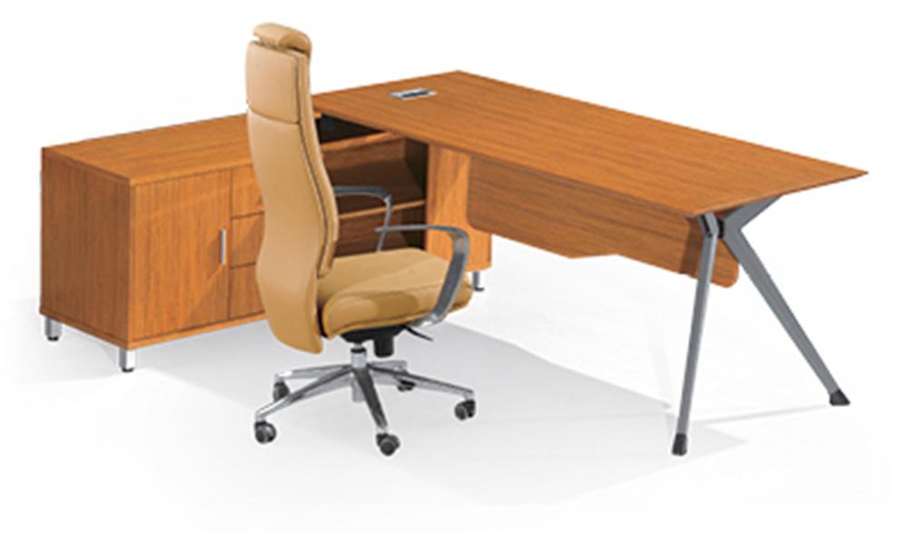 Foto de oficina port til moderna metal madera muebles for Oficina portatil