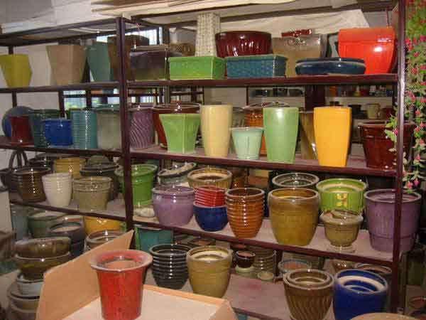 色づけされた陶器