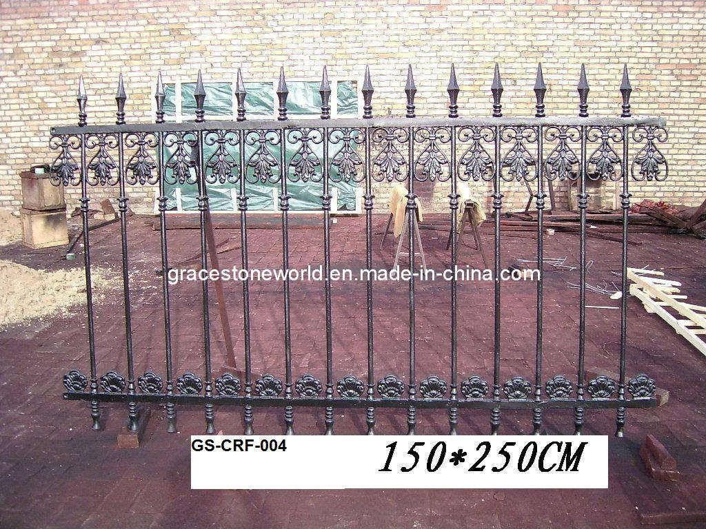 Garten Zaun Eisen Geländer Roheisen Eingangs Gatter GS CRF 004