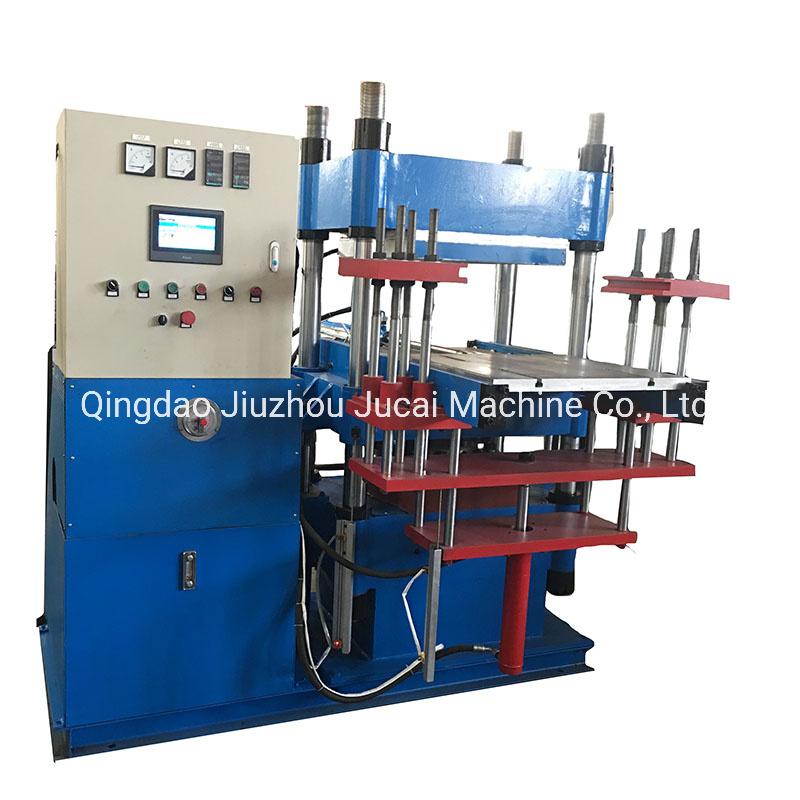 Vulcanización de caucho moldeo por compresión de prensa