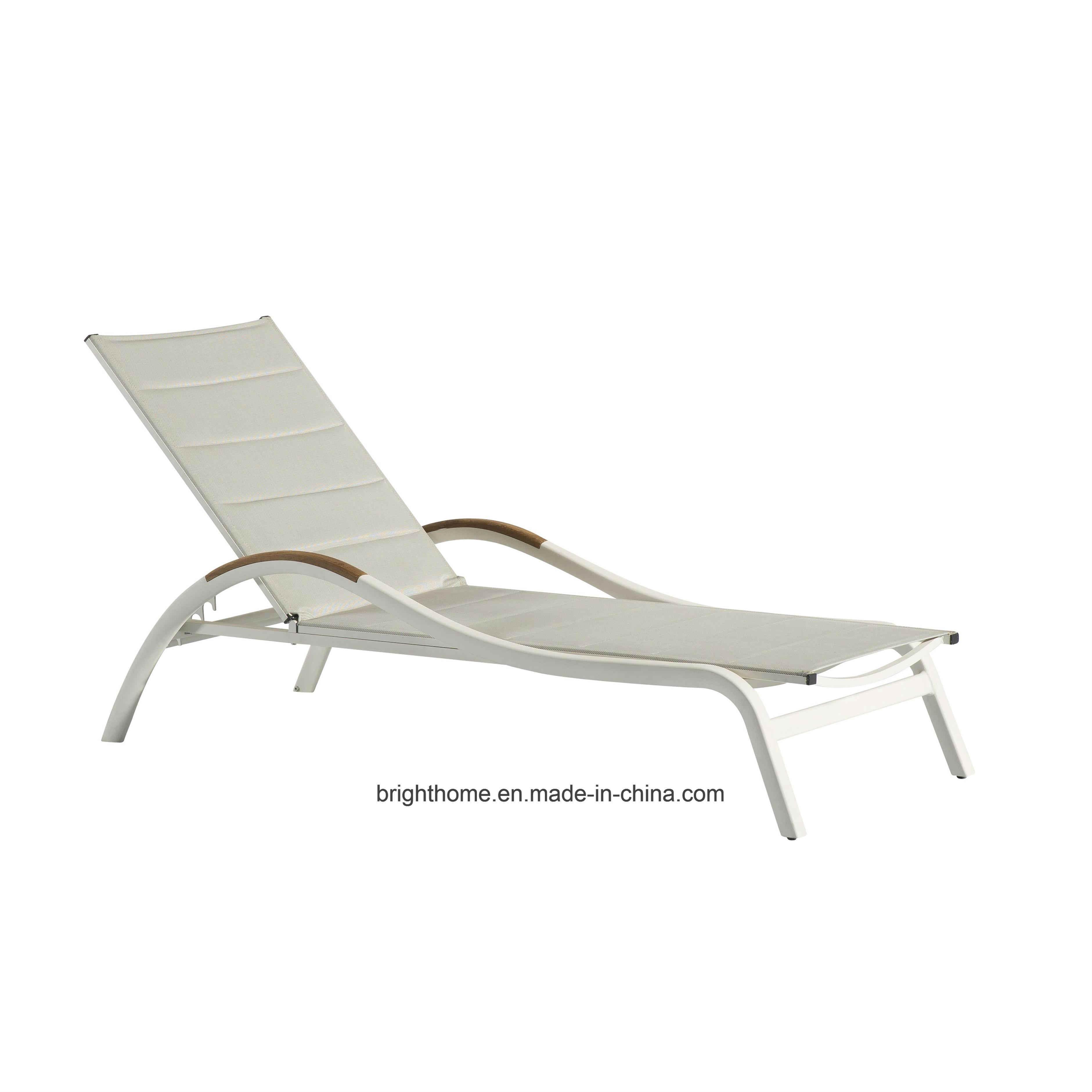 - Textilene Outdoor Chaise Lounge Sonnenliege, Aluminiumpool