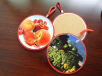 Olla de cerámica de notas, Trivet, Pan Pad