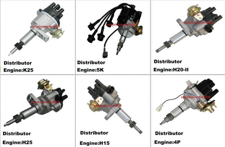 포크리프트 엔진 부품 디스트리뷰터 K21/K25/4y/4G63/4G64/1dz/5k/H20/H25