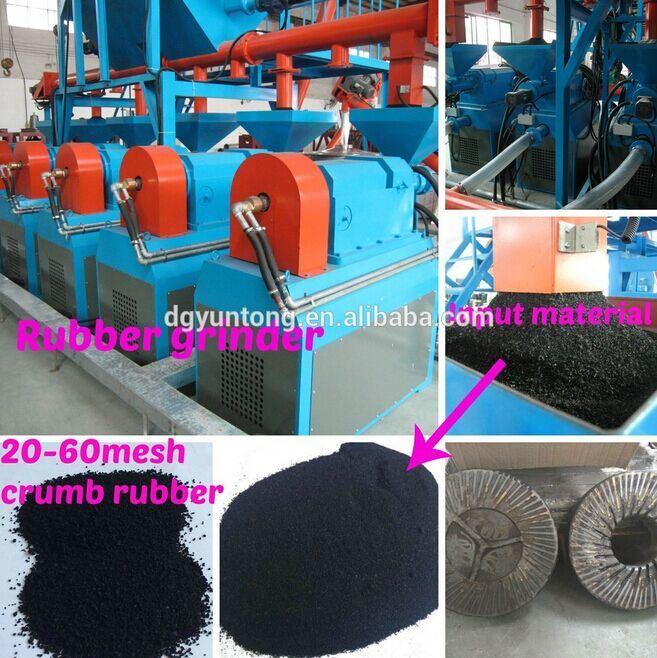 Poudre en caoutchouc à partir de déchets système pneumatique / usine de recyclage des pneus