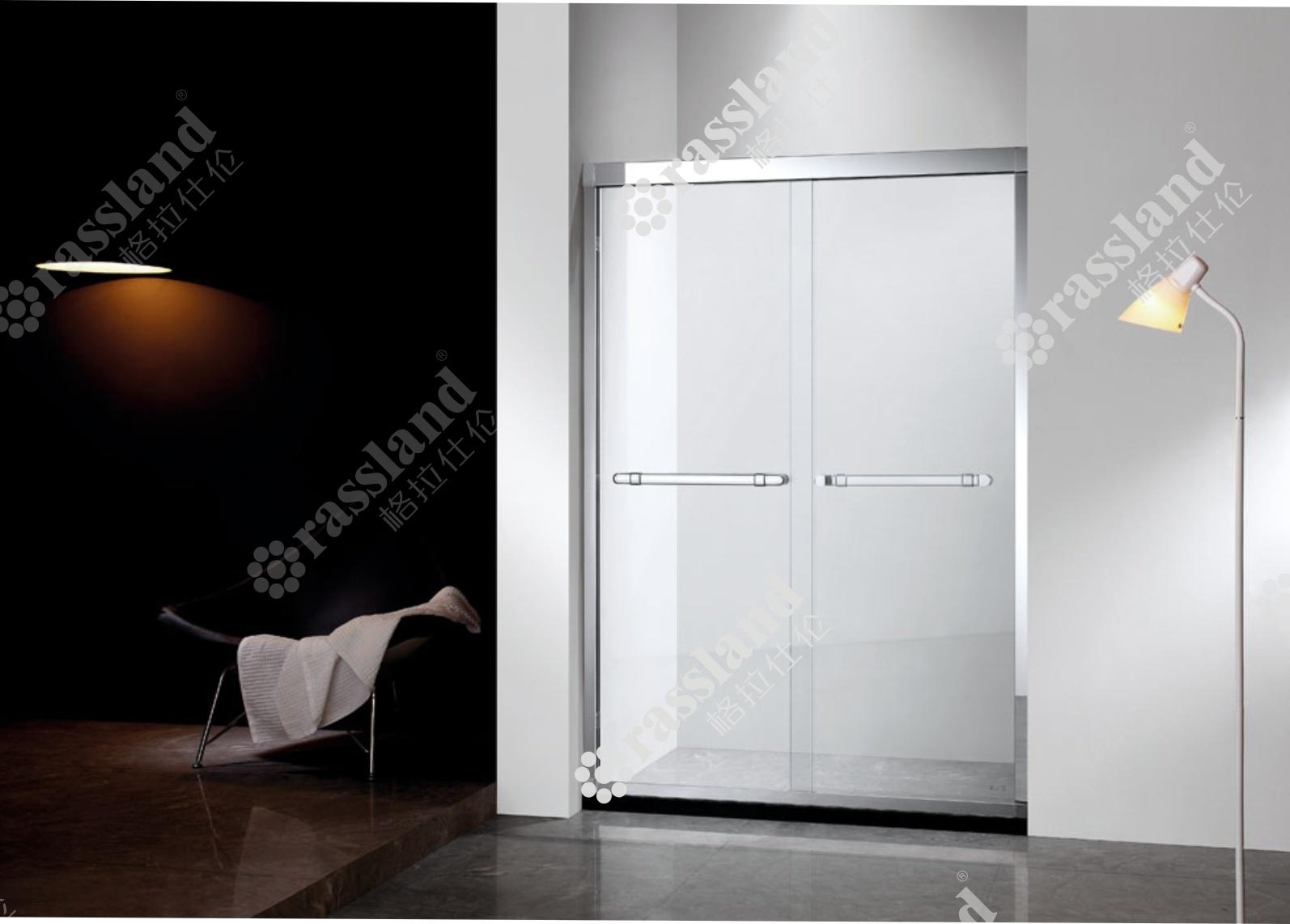 L'hotel facile monta lo schermo di acquazzone semplice a ruote del bagno di vetro Tempered dell'acciaio inossidabile 304