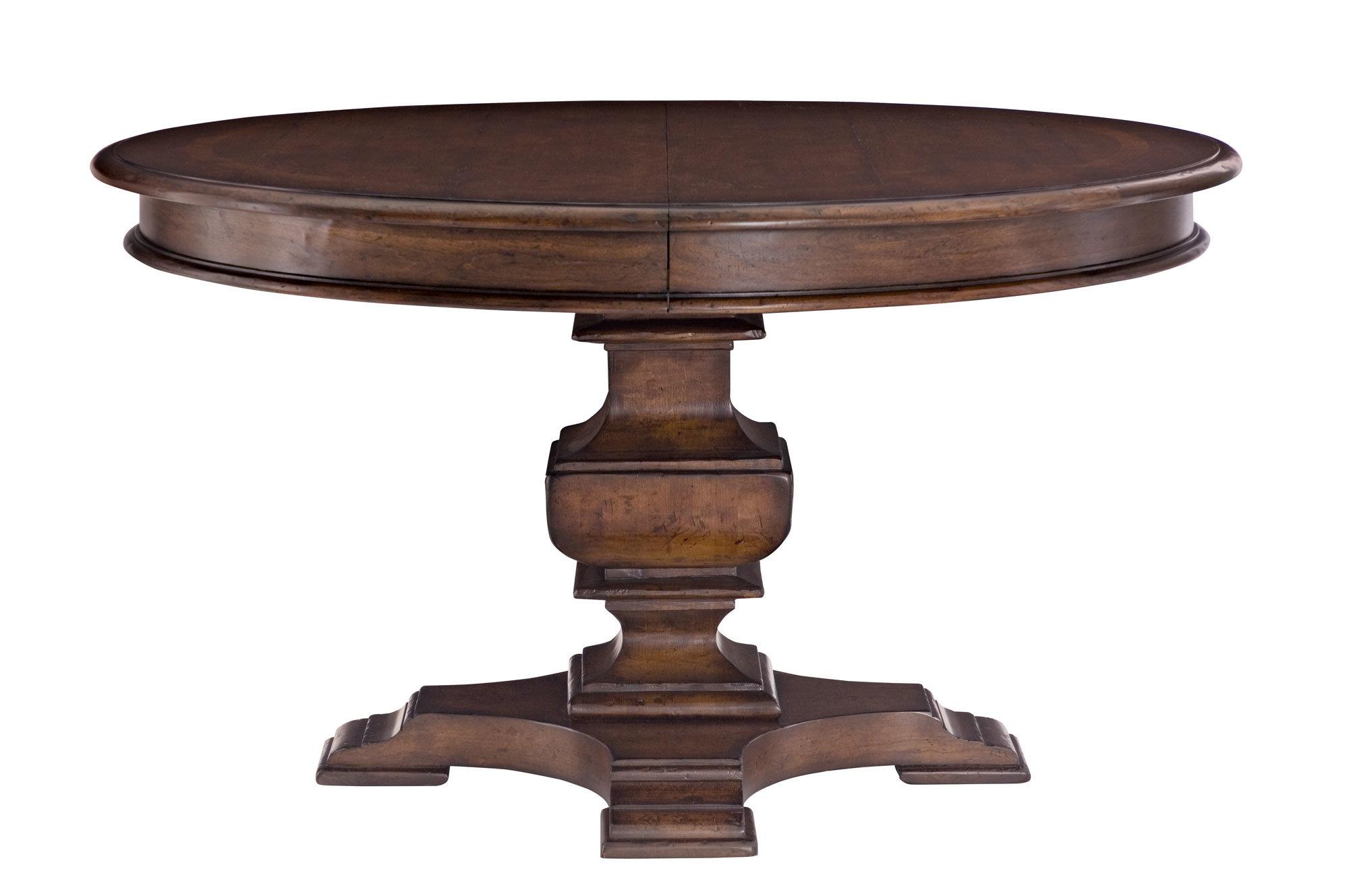 Foto de Muebles de madera antiguos Post bloque redonda mesa ...