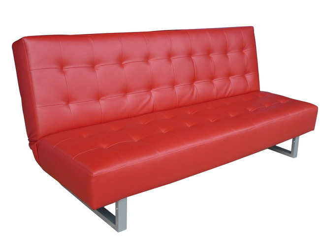 rouge en cuir souple et confortable canap lit 140b rouge en cuir souple et confortable. Black Bedroom Furniture Sets. Home Design Ideas