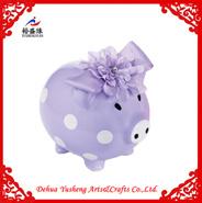 Acristalamiento banco el dinero de cerdo