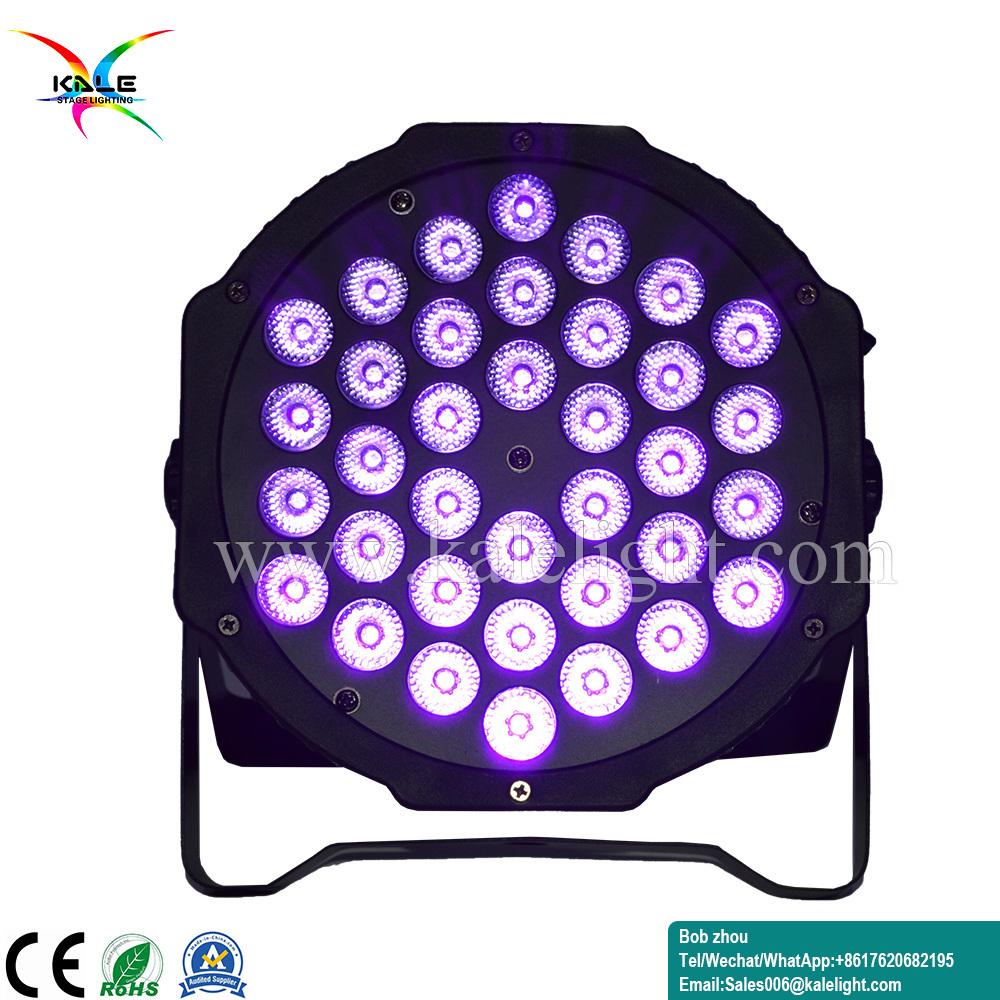 36PCS LED Mini UV PAR DJ luz par a fase de Zoom
