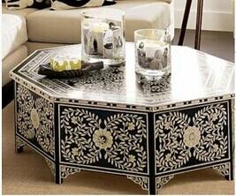 Drawer를 가진 높은 Quality Wood Hand Painted Coffee Table