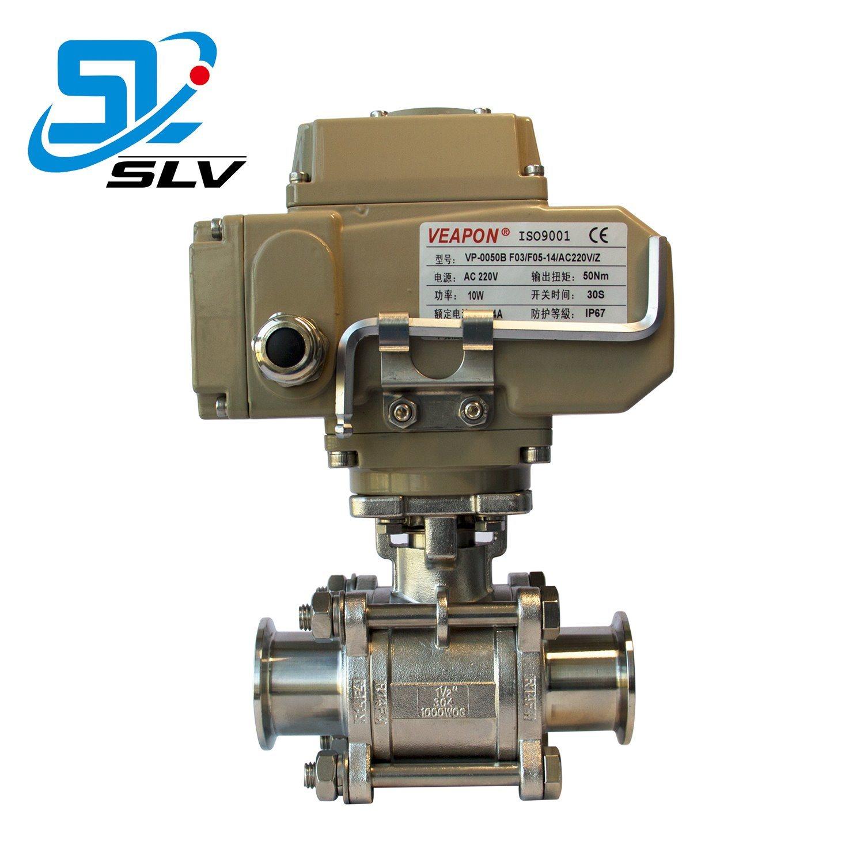 Dn25 위생 전기 Tri-Clamp 볼 밸브