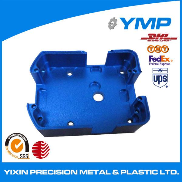 CNC, der blauen anodisierten Shenzhen-Lieferanten prägt