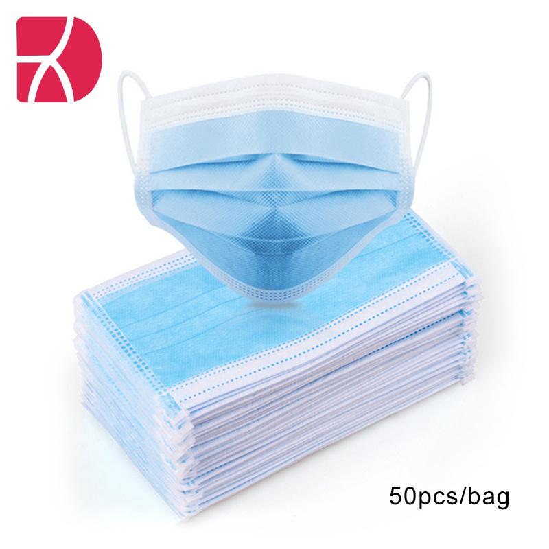Máscara azul máscara facial de equipamento de protecção