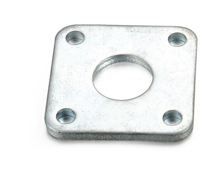 pieza de estampado de brida con acero inoxidable (fábrica).