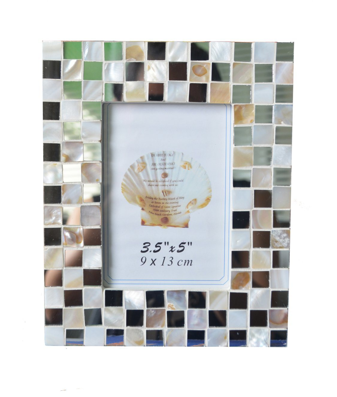 Mosaico de nácar Marco de fotos, 3.5X5 pulg. – Mosaico de nácar ...