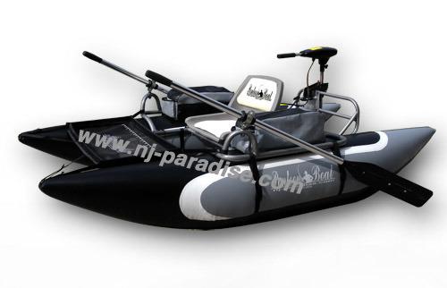 kayak gonflable en pvc noir seul bateau de p che avec moteur lectrique kayak gonflable en pvc. Black Bedroom Furniture Sets. Home Design Ideas