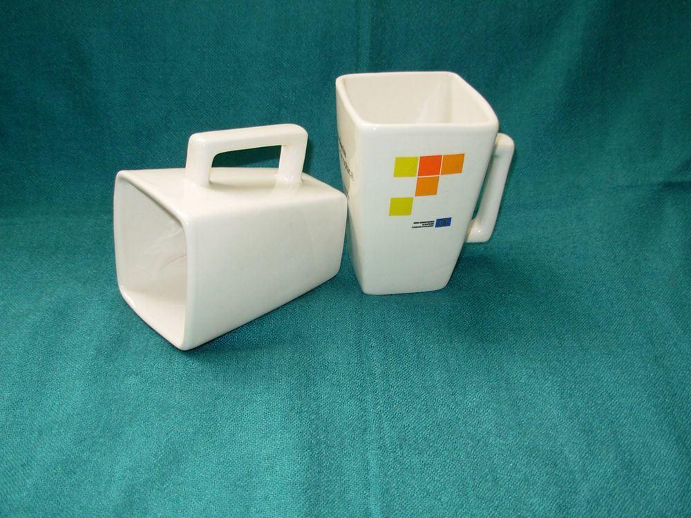 L'autocollant Coupe carrée de l'impression spécialisés (la tasse de café en porcelaine céramique WSY385M)