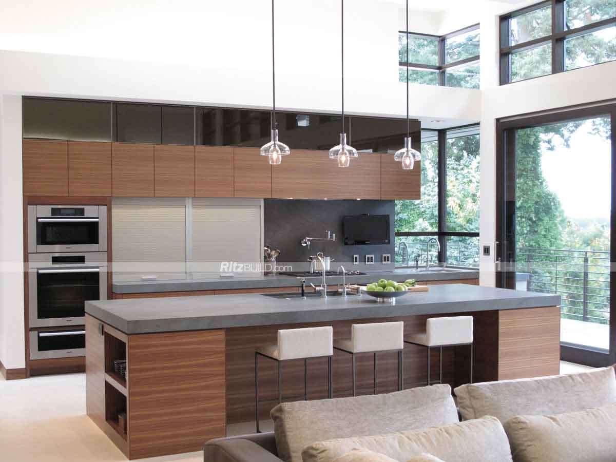 Foto de Armario de Cocina de madera armarios de cocina modular para ...