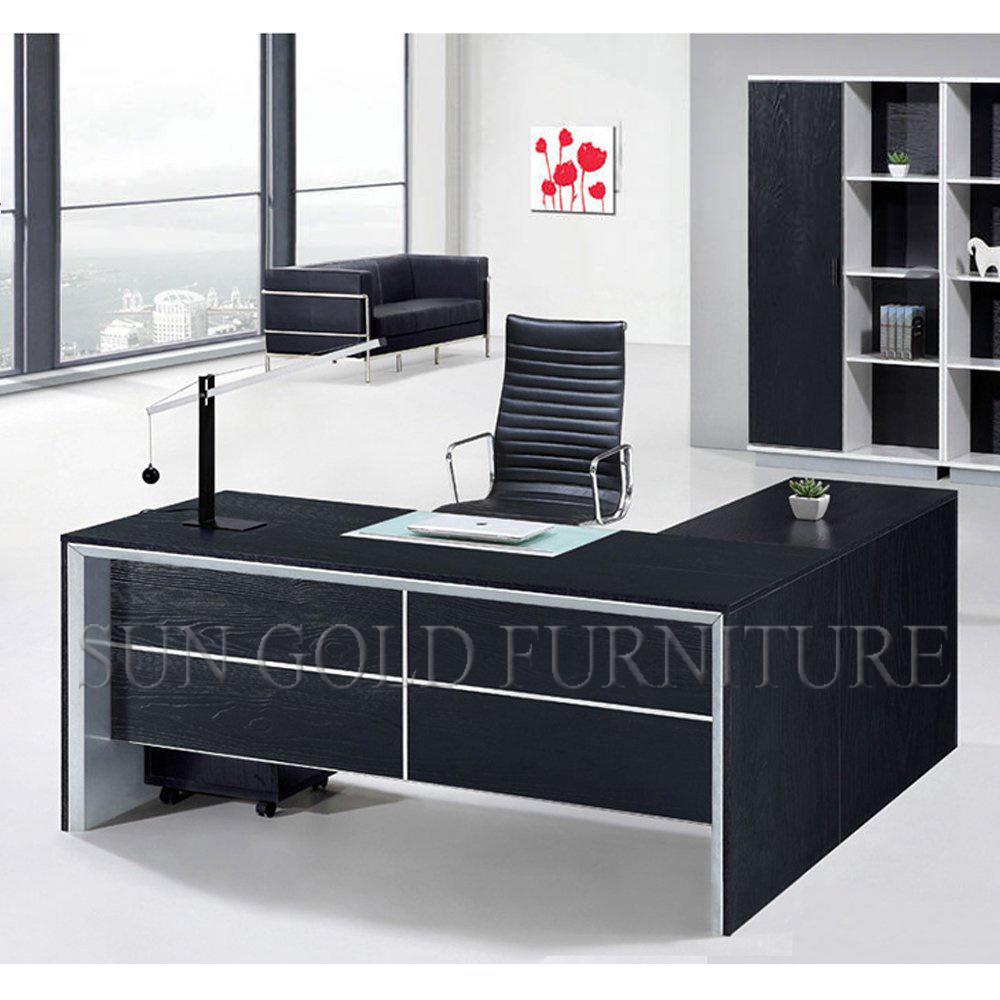 Foto de muebles classy black muebles de oficina mesa de for Oficina western union sevilla