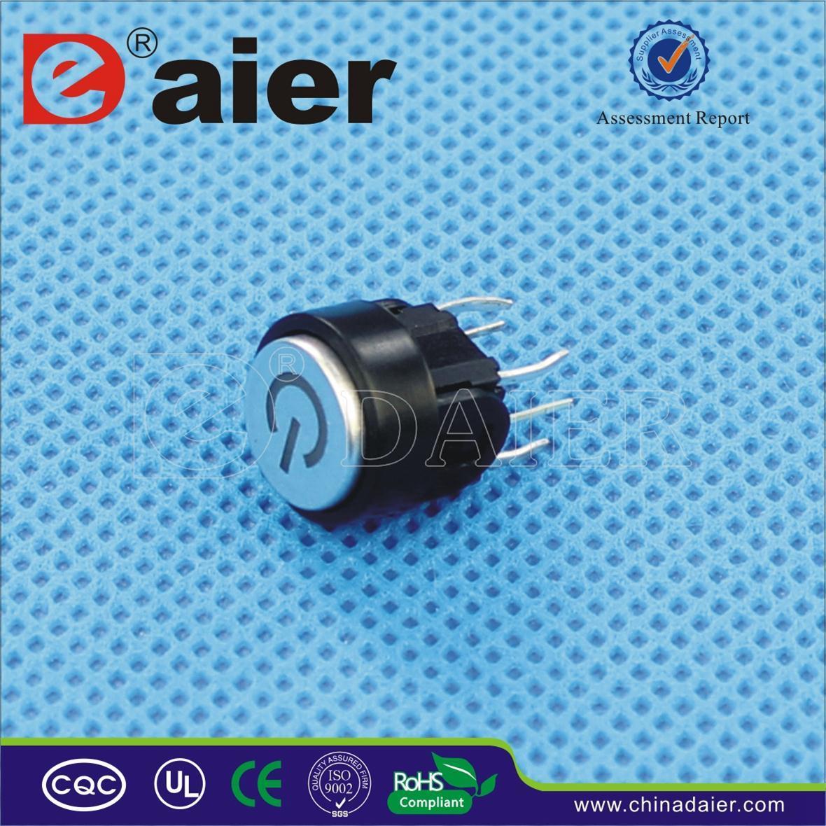Leistung-Symbol Illmuniated Tastmikroschalter, LED-Takt-Schalter ...