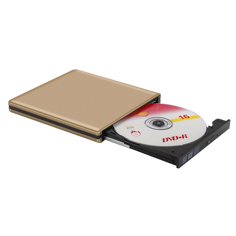 USB3.0 внешний дисковод компакт-дисков DVD проигрыватель дисков для Mac/ноутбук/ПК (Gold)