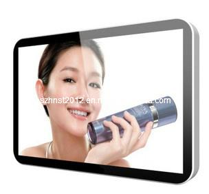 """46 """"表示を広告する壁に取り付けられたHD LCD"""