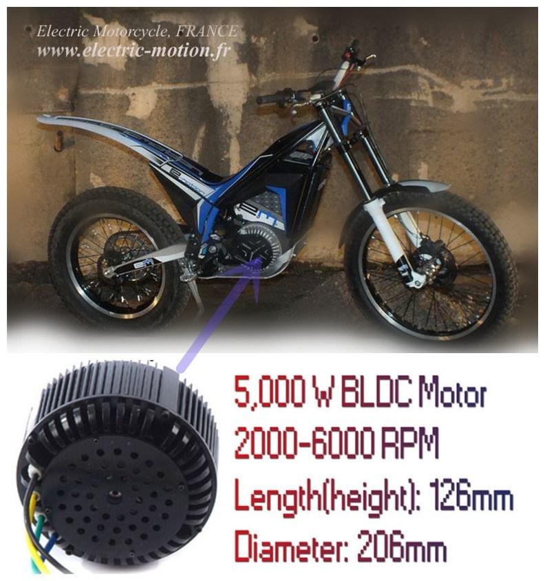 5kw moteur lectrique de moteur bldc kit kit de conversion de motocyclette lectrique 48v 72v. Black Bedroom Furniture Sets. Home Design Ideas