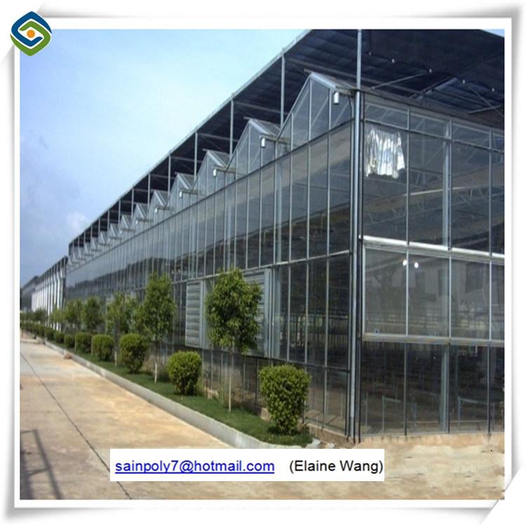 Serra di alluminio dell'interno di vetro del blocco per grafici di orticoltura