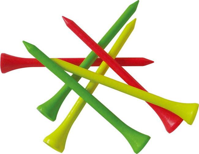70mm Colorul 질 박달나무 나무로 되는 골프 티