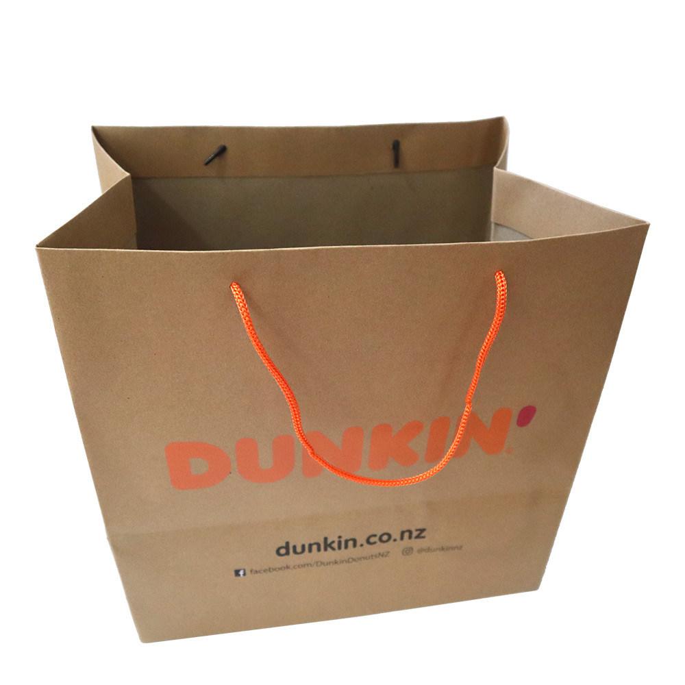 حقيبة تعبئة ورق الطعام مع مقبض الحبال