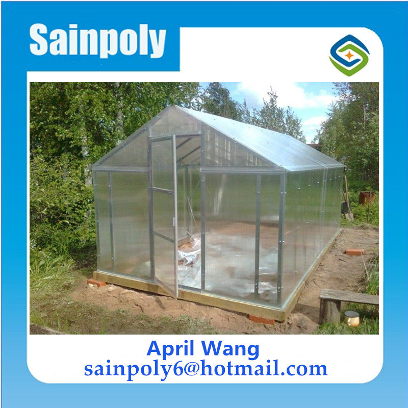 Piccola serra del giardino del policarbonato per la famiglia