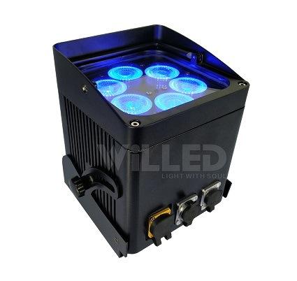 Wasserdichtes drahtloses Fernuvlicht des WiFi SteuerSamrtphone des Steuer6x10w 6in1 Rgbaw Licht-LED
