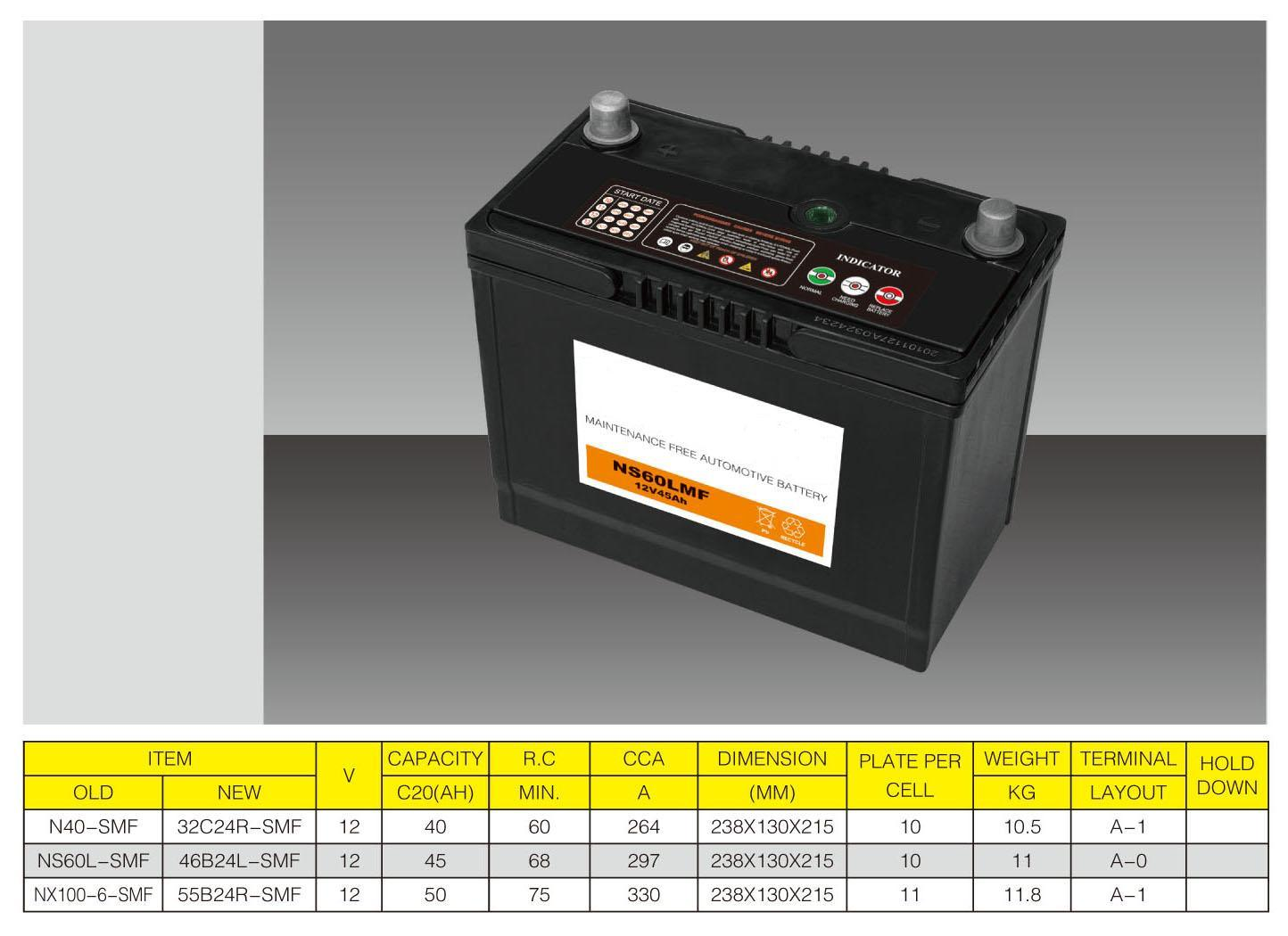Autobatterie (N40) 12V-40Ah
