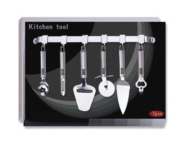 Os Pcs 7 Conjunto de Ferramentas de cozinha w/ Titular (KTB602)