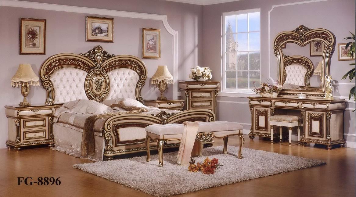 Ensemble de chambre coucher mobilier de style europ en fg 8896 ensemble de chambre - Style chambre a coucher ...