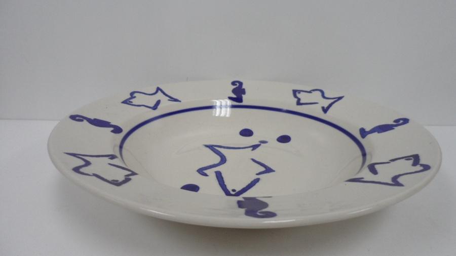 Stock bol de soupe peints à la main de grès (WSY1034B)