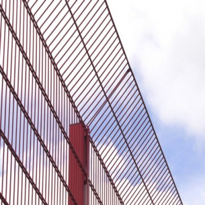 Acier galvanisé ou revêtement en poudre double clôture à mailles de Sports (BF- DWF)