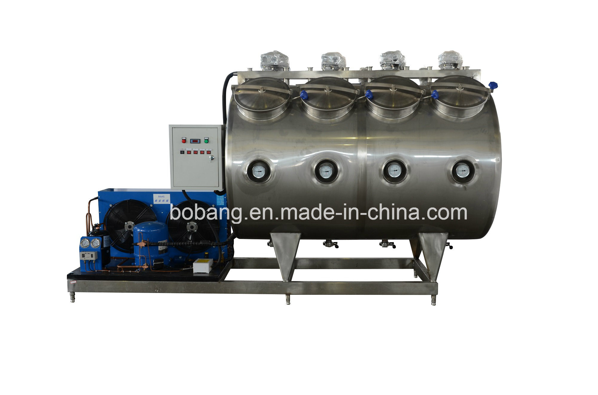 2000L Horizontal 2 Section Cold Tank