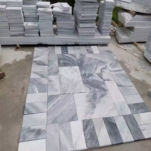 Foto de china pulido natural blanco negro gris baldosas de for Suelo marmol gris