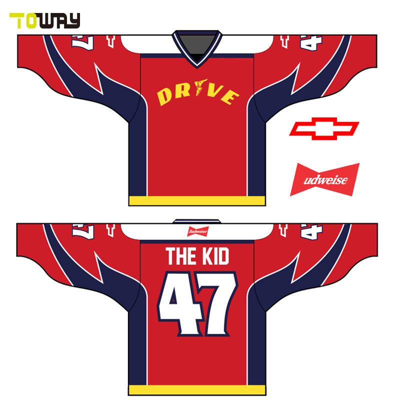 Оптовая торговля Custom дешевые хоккей футболки для продажи