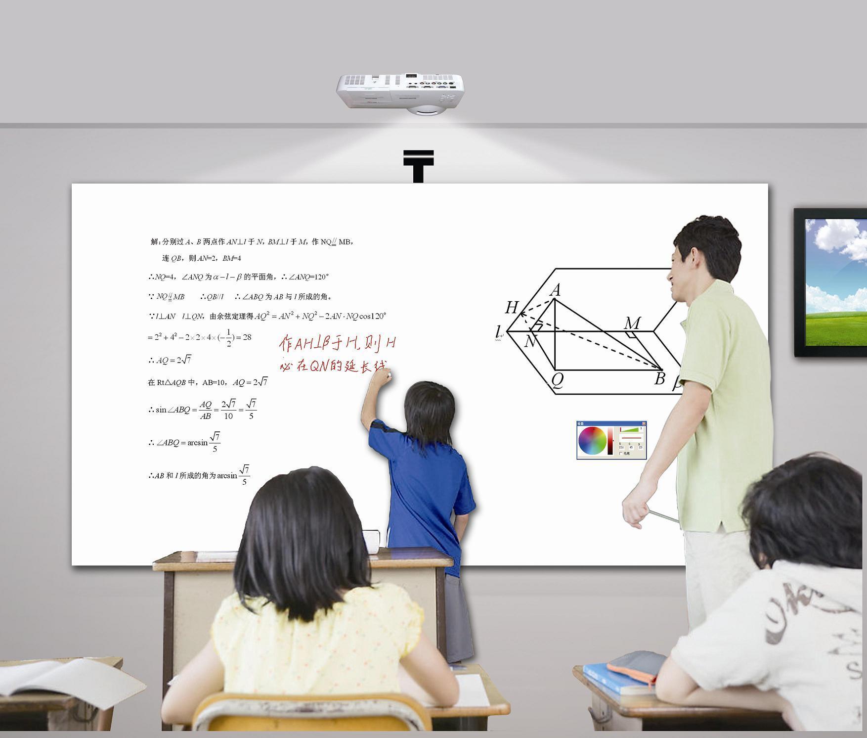 Moly Multi-Tocca le multimedia Whiteboard interattivo astuto della visualizzazione di LED