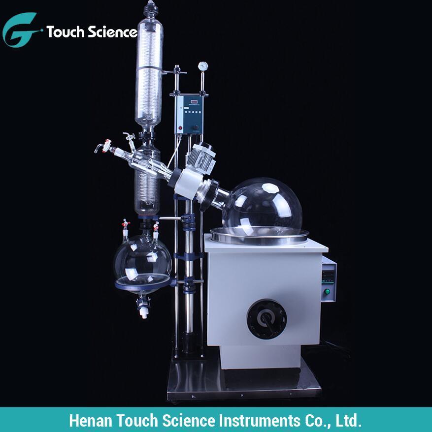 Вертикальный двойной конденсатор ванной Mannal подъем вакуумного большой емкости роторного испарителя 10L-50L