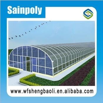 2017 горячая продажа один туннель парниковых пластиковый лист для томатов и сельскохозяйственных